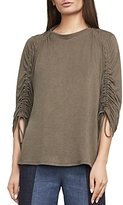 BCBGMAXAZRIA Kendalin Shirred-Sleeve Top