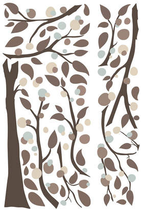 York Wall Coverings York Wallcoverings Mod Tree Peel and Stick Giant Wall Decals