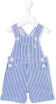 Il Gufo striped dungarees - kids - Cotton/Spandex/Elastane - 6 mth