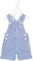 Il Gufo striped dungarees - kids - Cotton/Spandex/Elastane - 9 mth