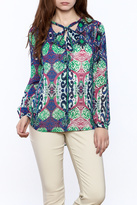 Tribal Colorful Long Sleeve Blouse