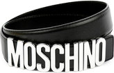 Moschino Logo-detail Leather Belt