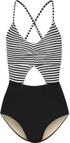 Tart Collections Karel cutout striped swimsuit