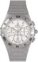 Omega Pre-Owned Constellation Chronograph Off White Dial Stainless Steel Mens Watch Ref 1542.3000