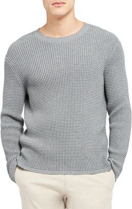 Theory Men's Phanos Textured Crewneck Sweater