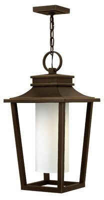 Sullivan 1-Light Outdoor Hanging Lantern Hinkley Finish: Oil Rubbed Bronze, Bulb Type: 100W Medium