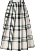 Sofie D'hoore check pleated skirt - women - Cotton - 34