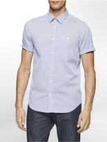 Calvin Klein Classic Fit Mini Stripe Short Sleeve Shirt