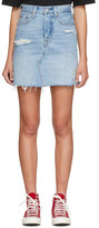 Levi's Levis Blue Deconstructed Denim Miniskirt