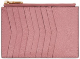 Miu Miu Pink Heart Multi Card Zip Pouch