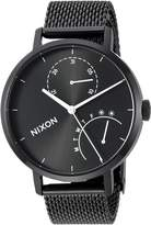 Nixon Women's 'Clutch' Quartz Stainless Steel Casual Watch, Color:Black (Model: A1166-00)