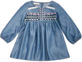 First Impressions Embroidered Denim Dress, Baby Girls, Created for Macy's