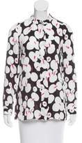 Jil Sander Navy Printed Button-Up Top w/ Tags