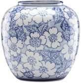 Lenox Painted Indigo Floral Round Vase