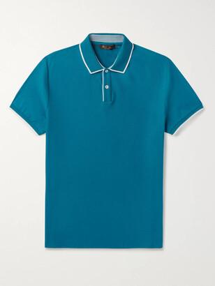 Loro Piana Slim-Fit Contrast-Tipped Stretch-Cotton Pique Polo Shirt