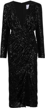 In The Mood For Love Dalida thigh-high slit dress