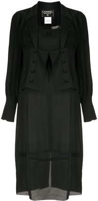 Chanel Pre Owned Double Breasted Jacket And Midi Dress