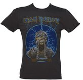 Amplified Mens Iron Maiden Mummy Charcoal T Shirt from