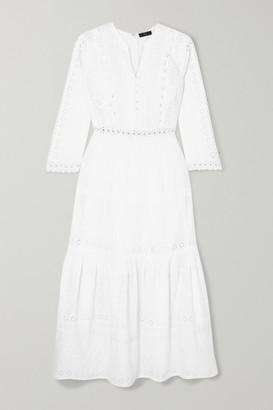 J.Crew Ranna Tiered Broderie Anglaise Cotton Midi Dress - White