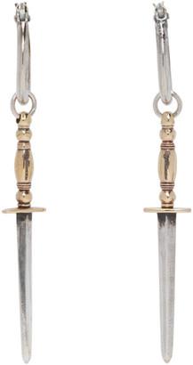 Ugo Cacciatori Silver and Gold Gladius Earrings
