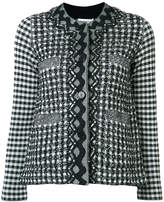 Sonia Rykiel gingham plaid tweed jacket