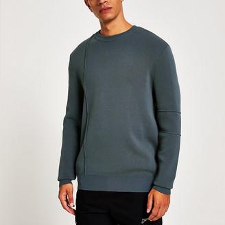 River Island Dark grey long sleeve jumper