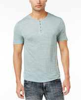 INC International Concepts Men's Distressed Heathered Henley, Only at Macy's