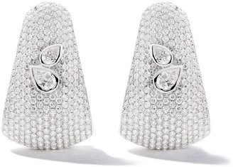 As 29 18kt White Gold Bombee Pear Shaped Diamond Earrings