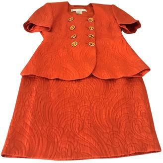 Escada Orange Wool Jacket for Women Vintage