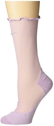 Nike Sheer Socks w/ Feminine Detail (Iced Lilac/Iced Lilac) Low Cut Socks Shoes