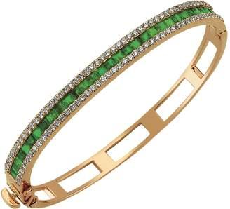 Bee Goddess Mondrian Emerald Bangle