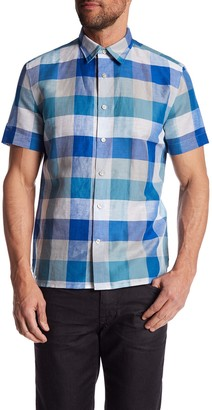 Perry Ellis Plaid Short Sleeve Regular Fit Shirt