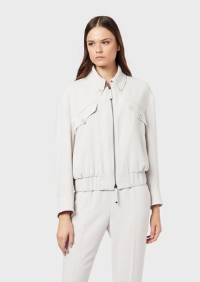 Emporio Armani Blouson In Envers Satin Tech Fabric