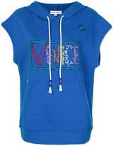 Mira Mikati Venice embroidered sleeveless hoodie