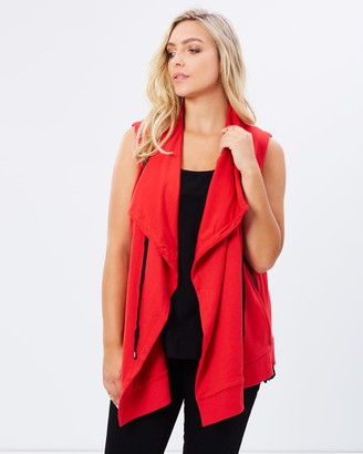 Advocado Plus - Women's Red Jackets - Eva Waterfall Sports Vest - Size One Size, 16 at The Iconic