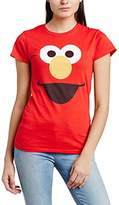 Sesame Street Women's 144. Elmo Face Options Crew Neck Short Sleeve T-Shirt