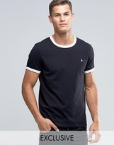 Jack Wills Ringer T-Shirt In Regular Fit In Black Exclusive