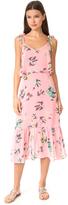 Line & Dot Riza Ruffle Midi Dress