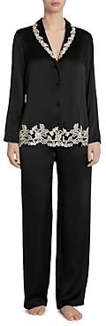 La Perla Embroidered Silk Pajama Set