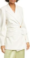 Nanushka Blair Wrap Front Vegan Leather Blazer