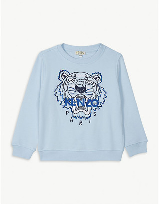 Kenzo Beaded tiger logo cotton sweatshirt 4-14 years