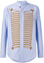 Palm Angels ribbon detail shirt - men - Cotton/Polyester/Metallic Fibre - 42