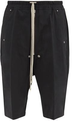 Rick Owens Pressed-crease Crepe Basketball Shorts - Black