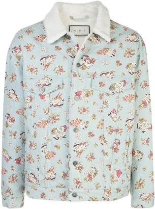 Gucci Lovers-print denim jacket