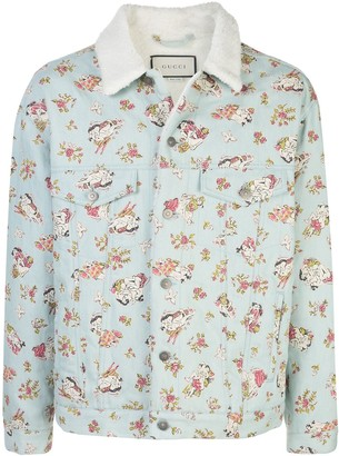 Gucci Lovers-print denim jacket
