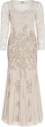 Adrianna Papell Multi Beaded Gown