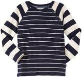 Jo-Jo JoJo Maman Bebe Raglan Top (Toddler/Kid) - Navy/Ecru Stripe-3-4 Years