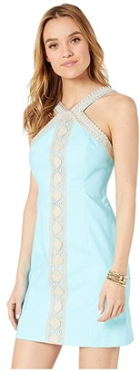 Lilly Pulitzer Vena Stretch Shift Dress (Bali Blue) Women's Dress