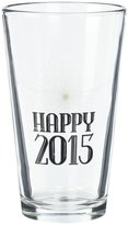 True Fabrications Happy 2015 Pint Glass - galss with black print