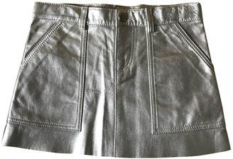 Bonpoint Silver Leather Skirts